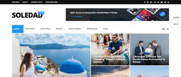 Soledad theme wordpress | theme blog chuyên nghiệp