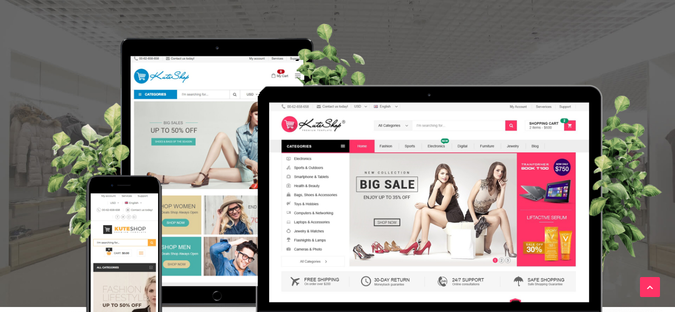 Kute theme wordpress